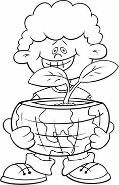 Medio Ambiente Earth Day Coloring Pages, Colouring Pages, Coloring Books, Felt Books, Alphabet Crafts, Good Environment, Activity Sheets, Digital Stamps, Happy Kids