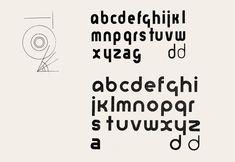 Варианты Универсального шрифта Герберта Байера, опубликованные в журнале «Искусство печати, книги, рекламы (Offset-, Buch- und Werbekunst. No. 7, 1926).