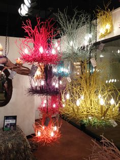 Painted branches chandeliers! These are AH-mazing in person! By Wish Designs USA #hpmkt