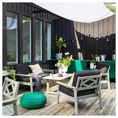 Outdoor Armchair, Outdoor Cushions, Chair Cushions, Outdoor Sofas, Outdoor Life, Outdoor Living, Ikea Family, Love Seat
