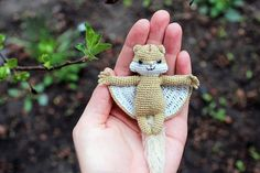 Amigurumi animals flying squirrel crochet amigurumi