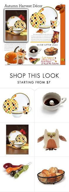 """What a Hoot!"" by valsal ❤ liked on Polyvore featuring interior, interiors, interior design, home, home decor, interior decorating, Rachael Ray, Dot & Bo, Woof & Poof and Mikasa"