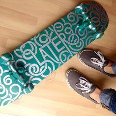 HANDLETTERED WORK MERIT: Later Skater—Phoebe Cornog, Encinitas, CA; Phoebe Cornog (designer)