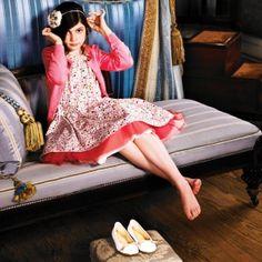Paul Smith dress and cardigan,Gaultier tutu,Dior ballerina flats