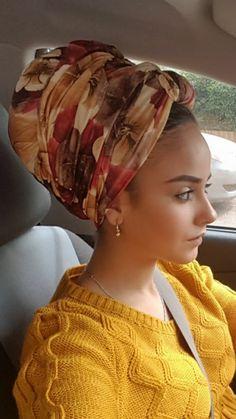 Beautiful flower head scarves