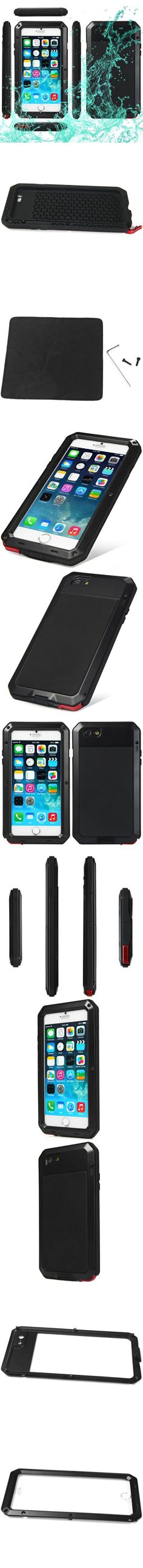 Aluminum Metal Gorilla Glass Military Waterproof Shockproof Dustproof Case for iPhone 6 Plus 6S Plus