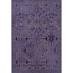 @Overstock.com - Purple/ Grey Transitional Area Rug (9'10 x 12'10) - One of today's hottest trends, the over-dyed look, is replicated here in washed shades of purple and grey. Encompassing the best of both worlds this rug offers high style, affordability and ease of care.  http://www.overstock.com/Home-Garden/Purple-Grey-Transitional-Area-Rug-910-x-1210/6651942/product.html?CID=214117 $477.99