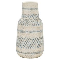 "Earthenware Vase - Green (12"") - Threshold™ : Target"