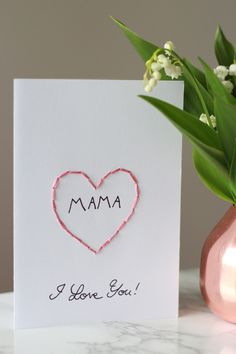 ars textura: DIY Karte zum Muttertag und Maiglöckchen