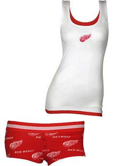 College Concepts Detroit Red Wings Women's Prospect Tank and Boyshort Set for my wife!