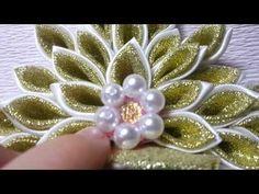 Новогодняя корона канзаши)) - YouTube