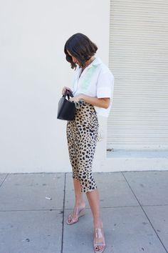 Summer Vintage High Waist Skirt Leopard Print Skirts Punk Rock Boho Streetwear Jupe Femme Size S Color Leopard Jupe Midi Leopard, Leopard Print Skirt, Leopard Skirt Outfit, Leopard Print Outfits, French Girl Style, French Girls, French Style Fashion, Cool Girl Style, Trendy Style