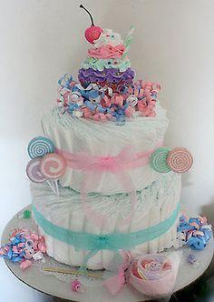 CupCake Sundae Diaper Cake
