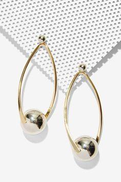 Illusion Metallic Earrings - Accessories