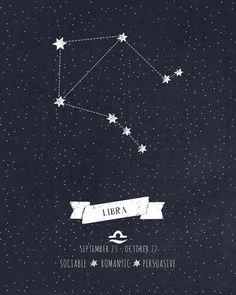 Libra Constellation Print Art Print by Angelina Perdomo | Society6