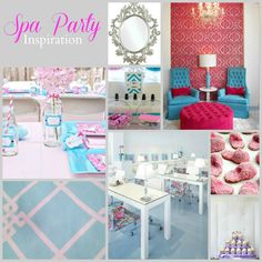 Spa Partyspiration Board by PartiesforPennies.com