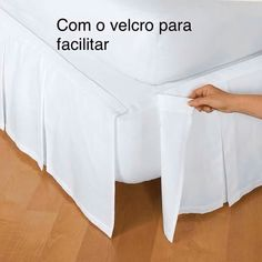 Attaches with Velcro®. Add a handsome accent below your bed with a classic box pleat bedskirt. The Company Store Home Bedroom, Bedroom Decor, Bedrooms, Bed Valance, Diy Bett, The Company Store, Dust Ruffle, Cotton Bedding, Box Pleats