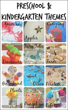 Big list of Kindergarten and Preschool themes plus why they're so important.