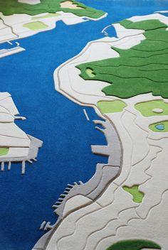 carpet designed from aerial photographs