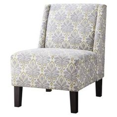 Hayden Armless Chair - Gray/Citron Ikat  sc 1 th 225 & Hayden Armless Chair - Charcoal http://www.target.com/p/hayden ...