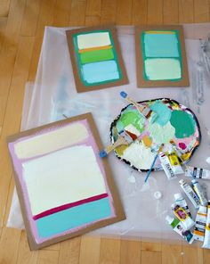 Check out this budget friendly DIY art idea: Rothko-inspired cardboard art in thrift store frames! Cute upcycled art idea for kids. Simple Wall Art, Easy Wall, Jewish Crafts, Crafts For Seniors, Kids Wall Decor, Kindergarten Art, Cardboard Crafts, Art Classroom, Diy Canvas