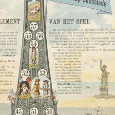 Groot eiffel toren spel / opgedragen aan de Nederlandsche jeugd, Jan Vlieger, 1889 - Rijksmuseum