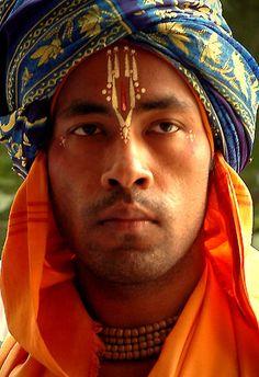 INDIA:  a Krishna devotee......