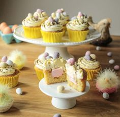 Sticky Toffee Cupcakes Delight your friends and family with these Easter mini egg cupcakes wit Cupcake Recipes From Scratch, Easy Cupcake Recipes, Dessert Recipes, Desserts, Yummy Recipes, Mini Egg Recipes, Easter Recipes, Cupcake Birthday Cake, Cupcake Cakes