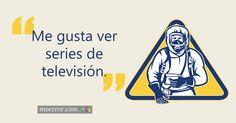 Me gusta ver #series de televisión.  meerror.com