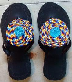 ON SALEWomen's sandals- African sandals- women's gift- Kenyan sandals- Handmade sandals- Maasai beaded sandals- Leather Sandals- Flat sandal Mens Leather Flip Flops, Leather Baby Shoes, Leather Sandals Flat, Beaded Sandals, Women's Sandals, Sandals Sale, Jesus Sandals, Slide Sandals, Moda Femenina