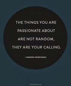 The things you are passionate