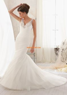 Tuin / Outdoor Kleine White Jurken Crystal detaillering Bruidsmode 2014