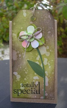 Tag. splotching with distress inks