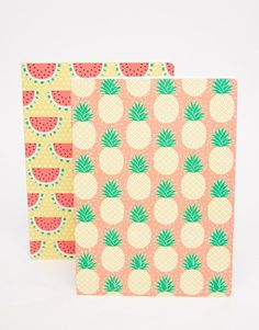 Sass & Belle | Sass & Belle Watermelon & Pineapple Exercise Books at ASOS