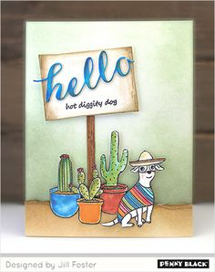 Penny Black Cards, Penny Black Stamps, Dog Cards, Dog Design, The Fosters, Make It Yourself, Stamping, Blog, Stamps