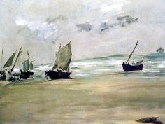 Low Tide at Berck Edouard Manet - 1873