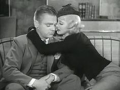 James Cagney y Bette Davis en Jimmy the Gent (1934) de Michael Curtiz.