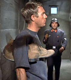 Steve McQueen in The Great Escape, 1963