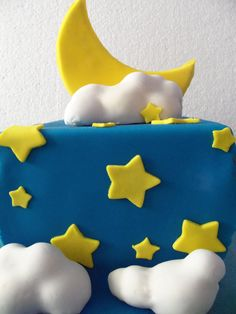 Moon and Stars Cake by ~zamor438 on deviantART