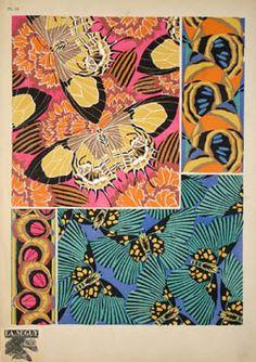 Art Nouveau prints by E. Seguy from 'Papillons' [Butterflies] Motif Art Deco, Art Deco Pattern, Pattern Design, Textures Patterns, Print Patterns, Fabric Patterns, Art Nouveau, Insect Art, Textiles