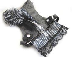Small Dog Choke Free Silver Metallic Dog Harness by FooFooFido