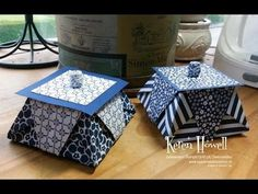 Origami Easter Basket (Stampin Up) - YouTube