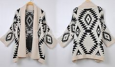 Aztec Geometric Pattern Loose Sweater $15