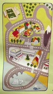 Target Rugs CHILDREN uS PLAY AREA RUG CHILDS KIDS RACE CAR STREET ROAD CITY TOWN CARPET