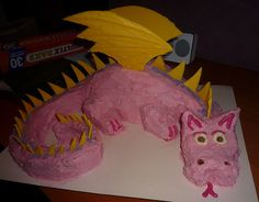 My daughter requested a pink dragon cake for her 3rd birthday party. I researched a bit on the internet. The cake I made was a combination of this one, this one, this one and my own adaptations. This is how I went about making it. The cake is two circular cakes cut and arranged, covered with butter icing, with white chocolate wings and spikes. It was surprisingly easy to make. You will need: * 2 round cakes - I made my own butter cakes. You could also use packet mix or even buy two pre-made…