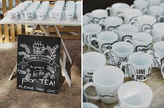 """""""Thanks A Latte."""" Cute Saying to Incorporate in your wedding if you love coffee! Featured on the Hello May blog on Rustic Wedding Inspiration."""