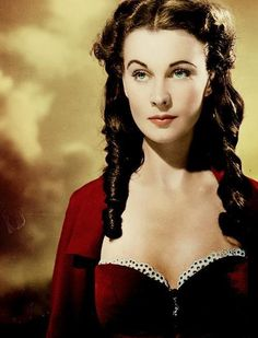 Vivien Leigh - Though Gone With the Wind was in color, the stills were in black and white.