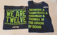 Seattle Seahawks We are 12 and Legion of Boom T Shirt Lot  fashion  clothing ae5bd20e4