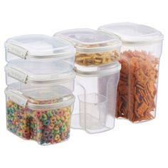 Klip-It® Bakery Food Storage - Love these!  Fits bag of flour and sugar perfectly w/scoop.