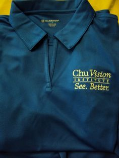 Chu Vision Institute embroidered polos